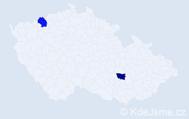 Příjmení: 'Láncoš', počet výskytů 6 v celé ČR