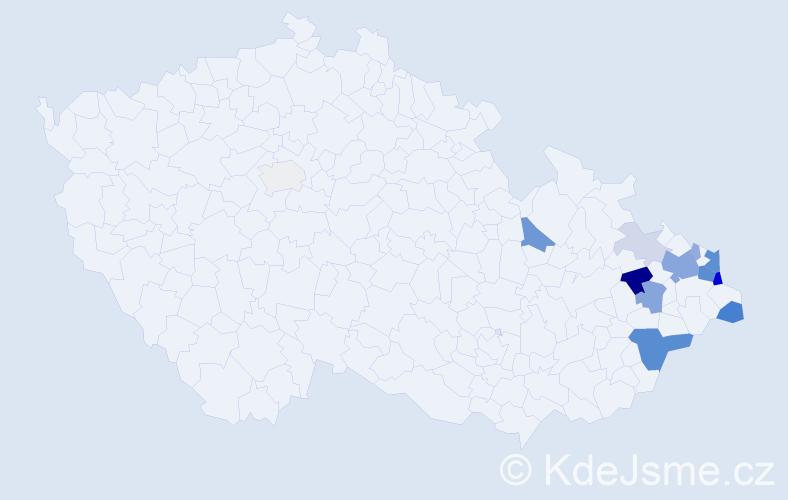 Příjmení: 'Glet', počet výskytů 40 v celé ČR