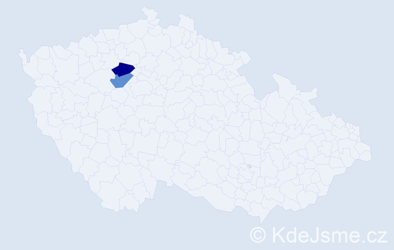 Příjmení: 'Dobej', počet výskytů 4 v celé ČR