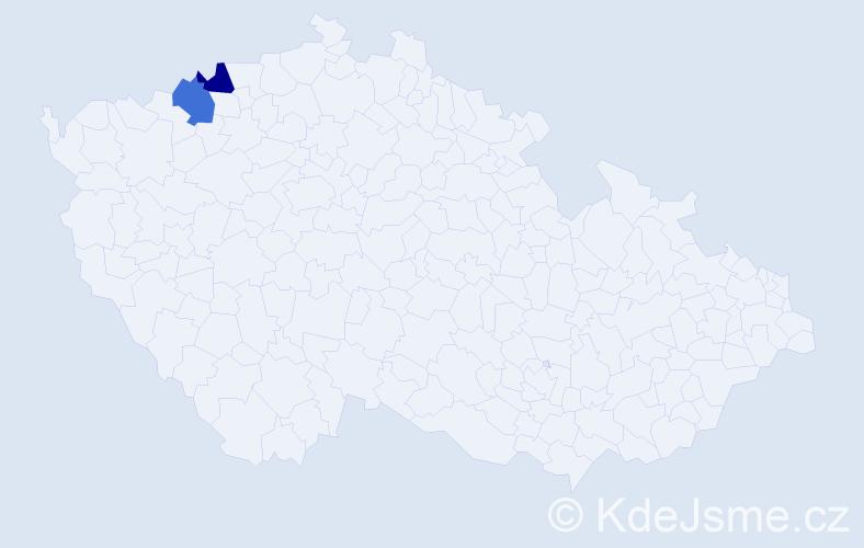 Příjmení: 'Čontofalská', počet výskytů 8 v celé ČR