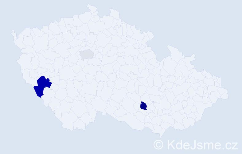 Příjmení: 'Glűckseligová', počet výskytů 4 v celé ČR