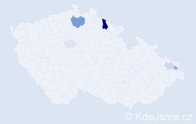 Příjmení: 'Kuhová', počet výskytů 14 v celé ČR