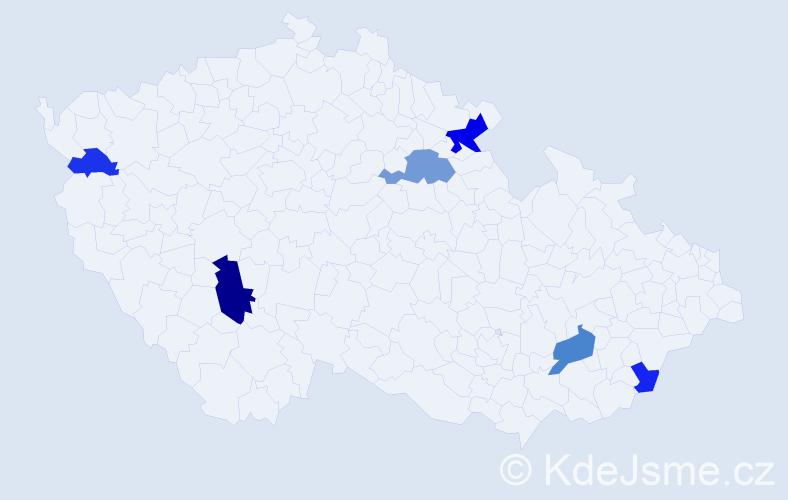 Příjmení: 'Drye', počet výskytů 12 v celé ČR