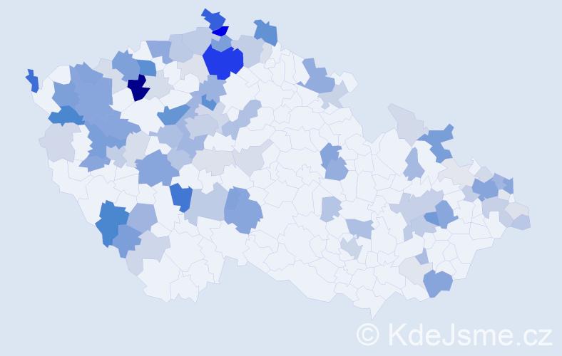 Příjmení: 'Bučko', počet výskytů 320 v celé ČR