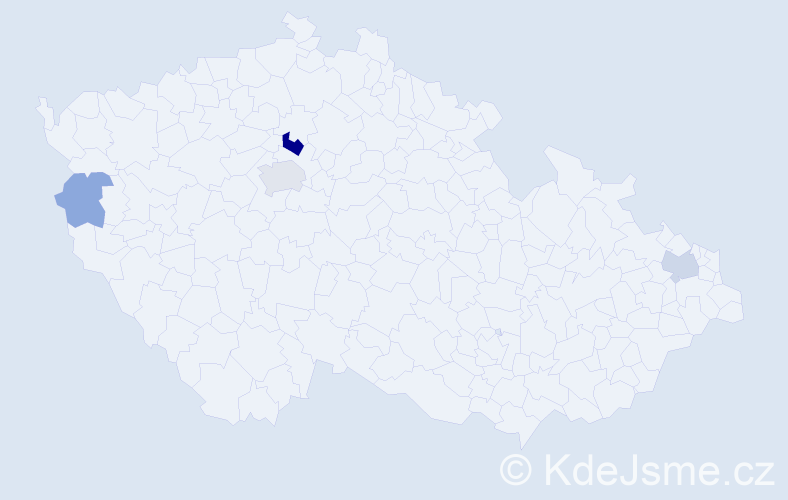 Příjmení: 'Aschenbrener', počet výskytů 10 v celé ČR