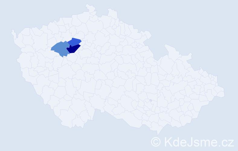 Příjmení: 'Čakijová', počet výskytů 6 v celé ČR
