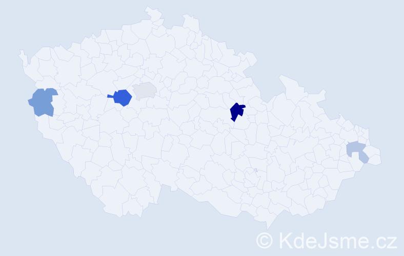 Příjmení: 'Frydrich', počet výskytů 10 v celé ČR