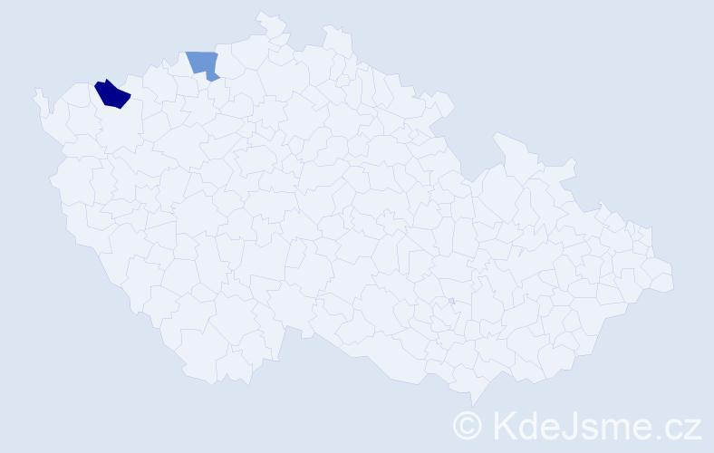 Příjmení: 'Drudik', počet výskytů 2 v celé ČR