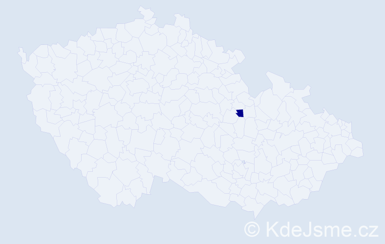 Příjmení: 'Guthmannová', počet výskytů 1 v celé ČR