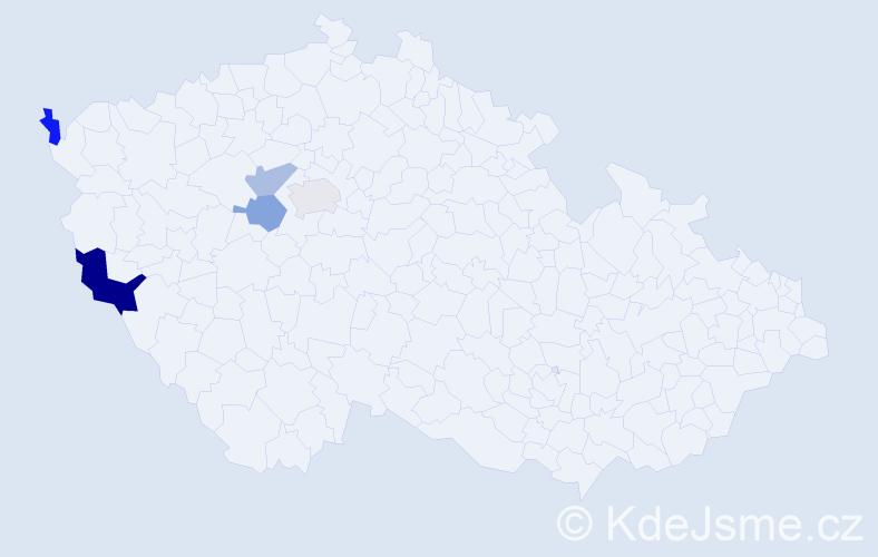 Příjmení: 'Kelnhoferová', počet výskytů 7 v celé ČR