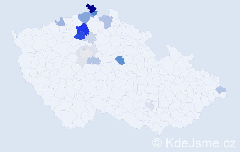 Příjmení: 'Goldberg', počet výskytů 59 v celé ČR