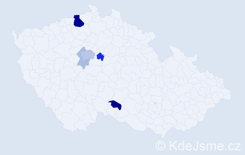 Příjmení: 'Herychová', počet výskytů 16 v celé ČR