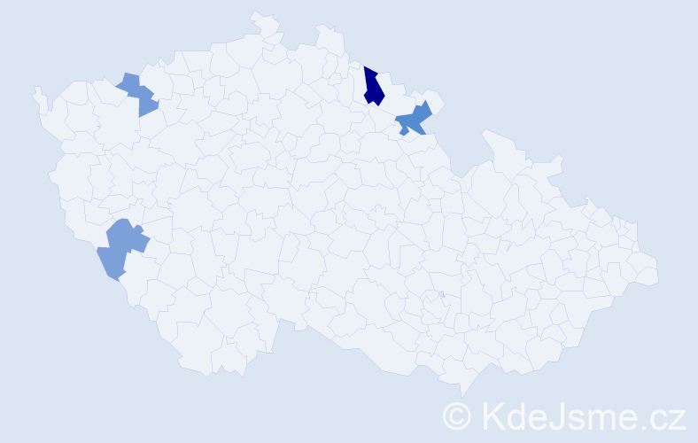 Příjmení: 'Gabodová', počet výskytů 6 v celé ČR