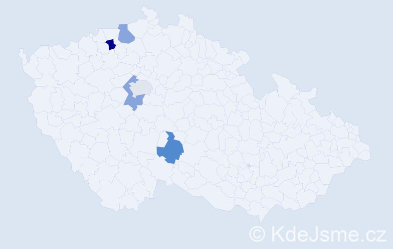 Příjmení: 'Gröschelová', počet výskytů 5 v celé ČR