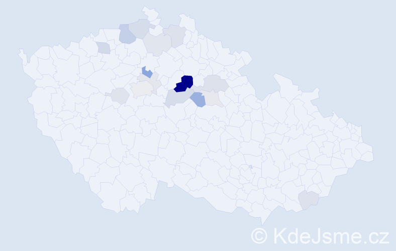 Příjmení: 'Krojidlo', počet výskytů 42 v celé ČR