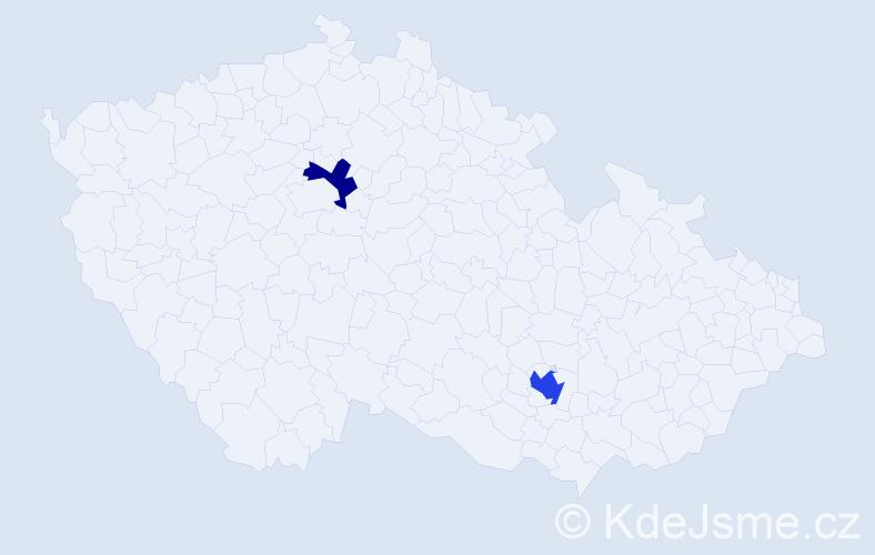 Příjmení: 'Iwaniszyn', počet výskytů 3 v celé ČR