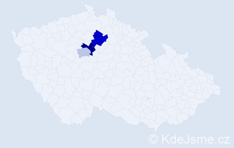 Příjmení: 'Bollardová', počet výskytů 3 v celé ČR