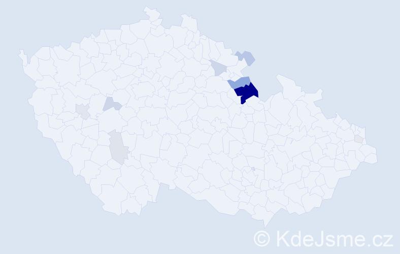 Příjmení: 'Krištufová', počet výskytů 26 v celé ČR