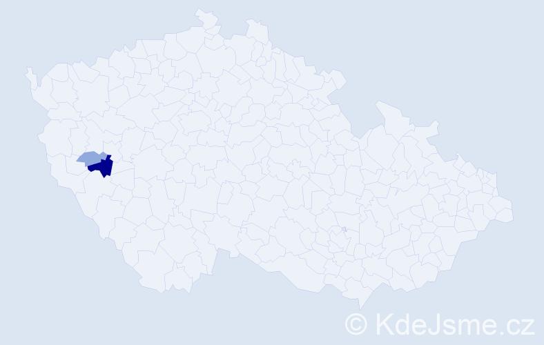 Příjmení: 'Impellizzeri', počet výskytů 6 v celé ČR