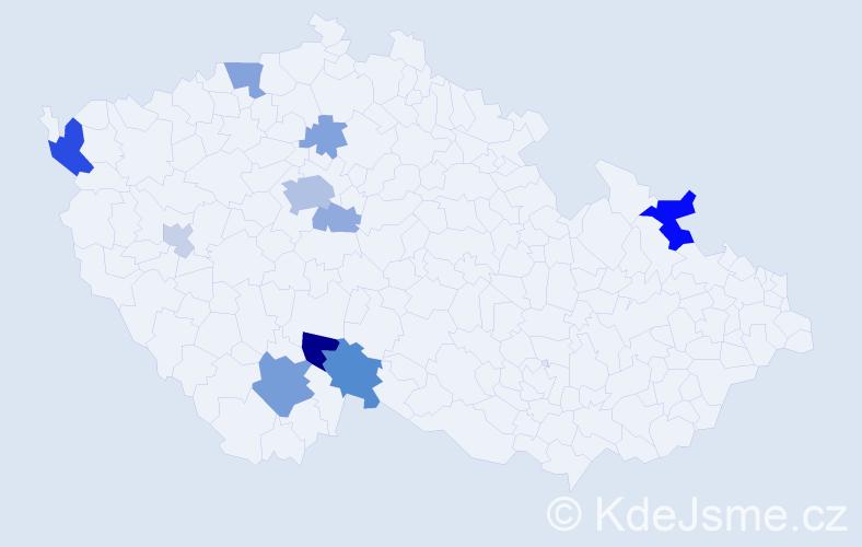 Příjmení: 'Berkovský', počet výskytů 26 v celé ČR