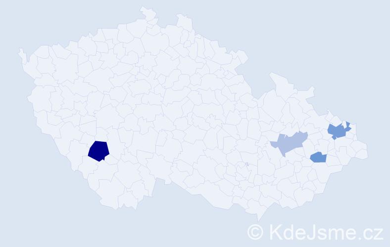Příjmení: 'Baigar', počet výskytů 10 v celé ČR