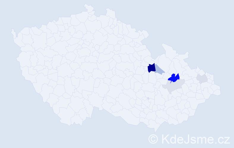 Příjmení: 'Kartarik', počet výskytů 13 v celé ČR