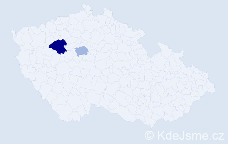Příjmení: 'Haehnelová', počet výskytů 3 v celé ČR