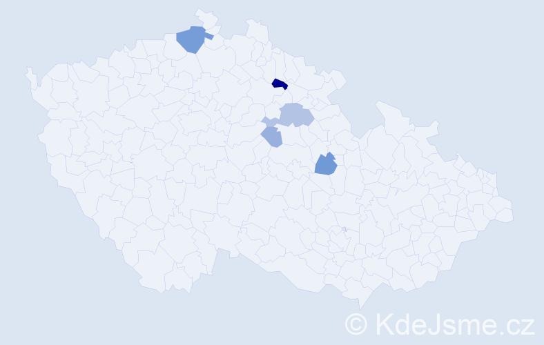 Příjmení: 'Balský', počet výskytů 14 v celé ČR