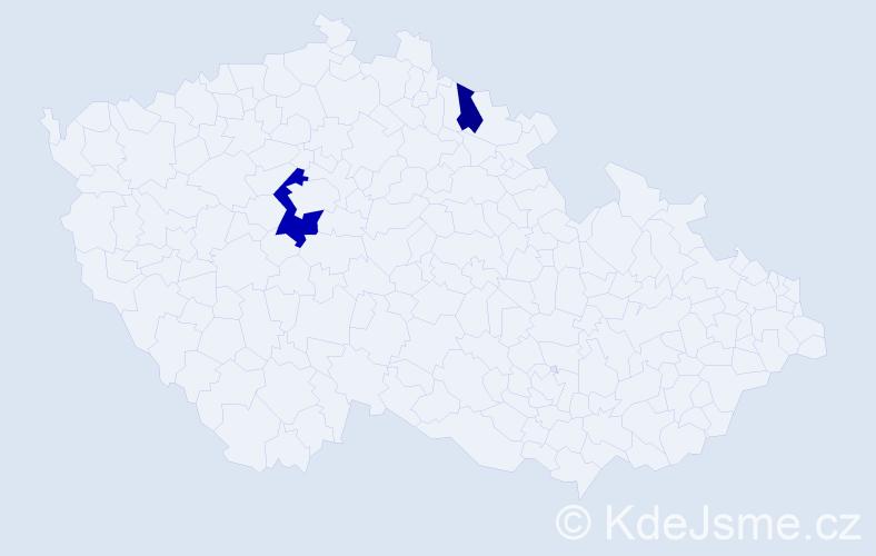 Příjmení: 'Landers', počet výskytů 4 v celé ČR