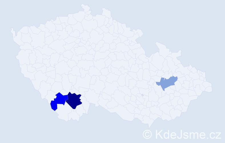 Příjmení: 'Janowiak', počet výskytů 6 v celé ČR