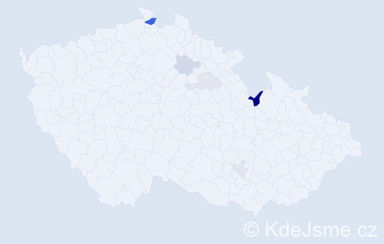 Příjmení: 'Čeřen', počet výskytů 11 v celé ČR