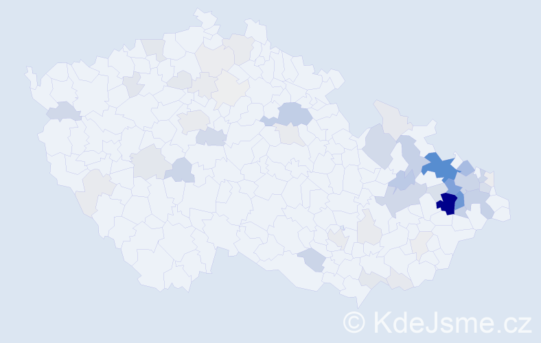 Příjmení: 'Glogarová', počet výskytů 256 v celé ČR