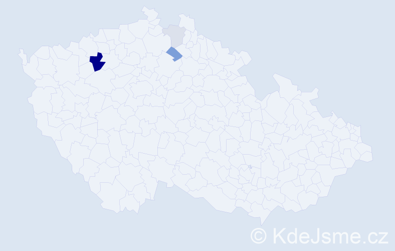 Příjmení: 'Černiková', počet výskytů 8 v celé ČR