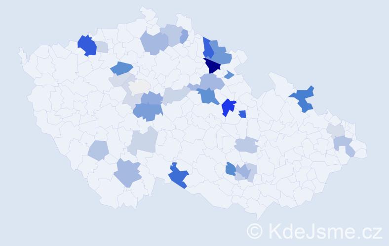 Příjmení: 'Leder', počet výskytů 82 v celé ČR