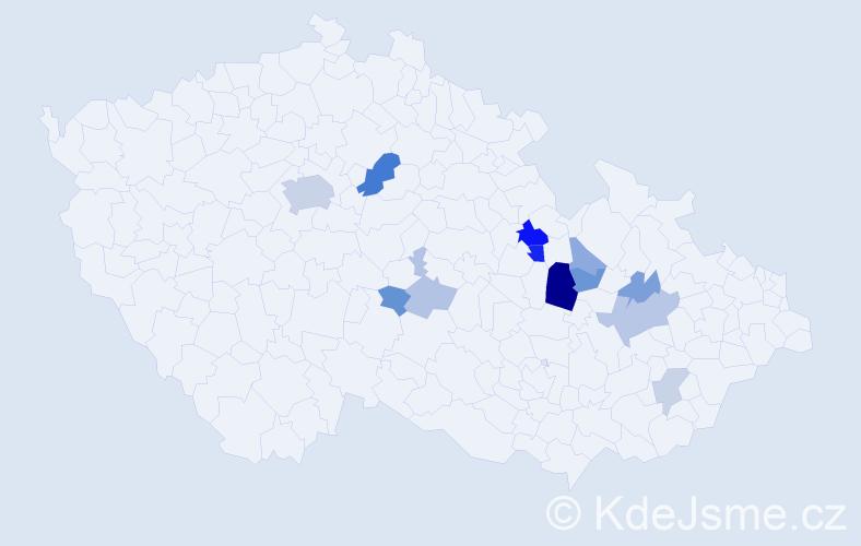 Příjmení: 'Grunta', počet výskytů 28 v celé ČR