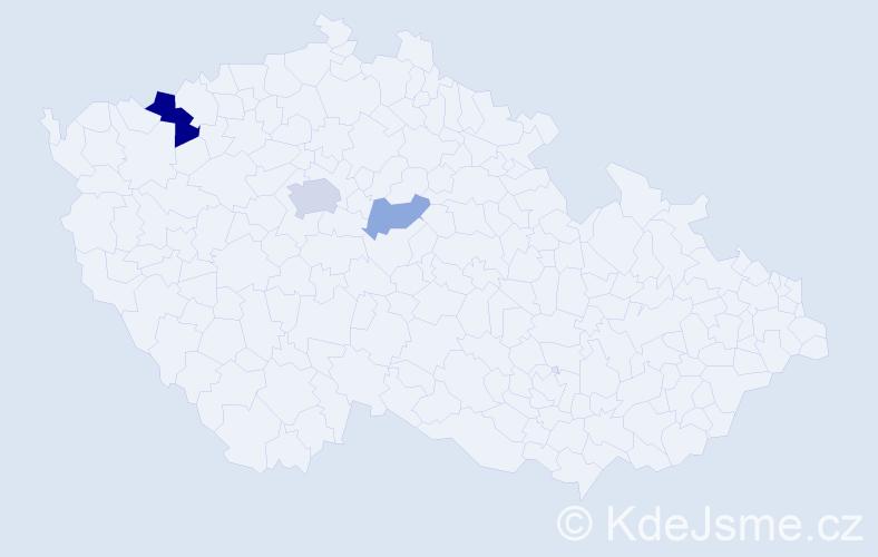 Příjmení: 'Dautovský', počet výskytů 7 v celé ČR