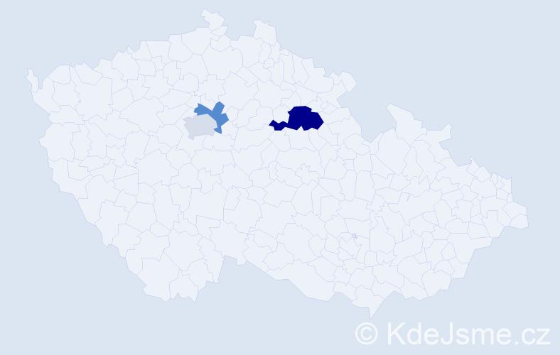 Příjmení: 'Bockstefflová', počet výskytů 5 v celé ČR