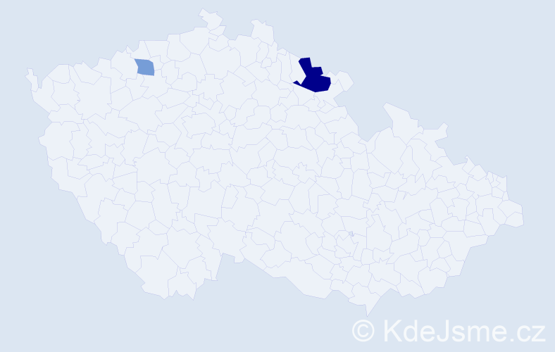 Příjmení: 'Dekker', počet výskytů 4 v celé ČR