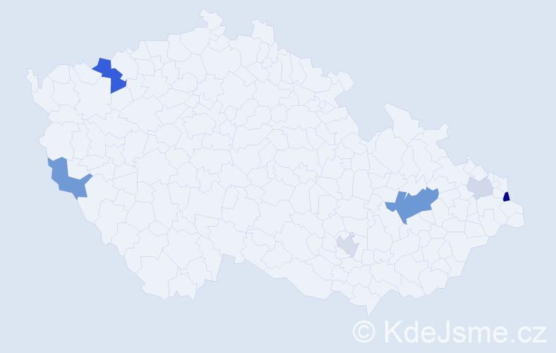 Příjmení: 'Iqbal', počet výskytů 10 v celé ČR