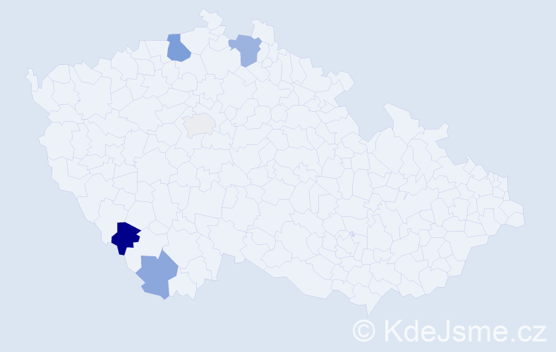 Příjmení: 'Ąach', počet výskytů 9 v celé ČR