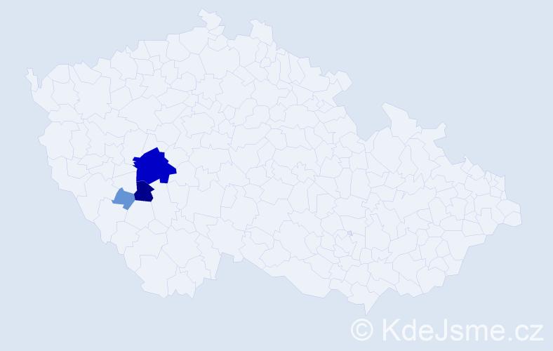 Příjmení: 'Citerbart', počet výskytů 17 v celé ČR