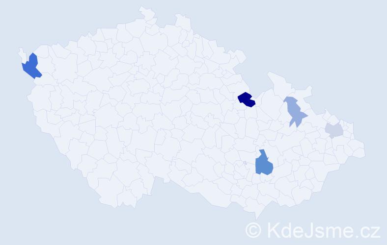 Příjmení: 'Labudík', počet výskytů 14 v celé ČR