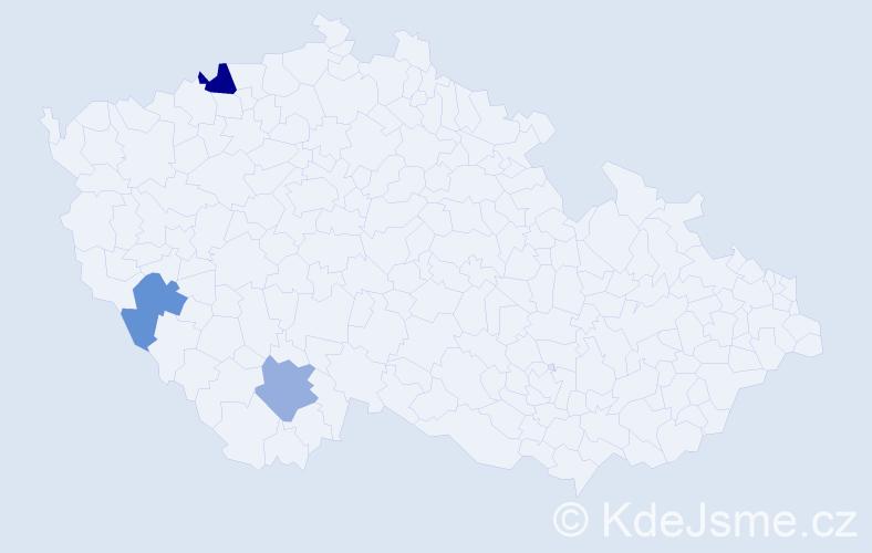 Příjmení: 'Drengubák', počet výskytů 4 v celé ČR