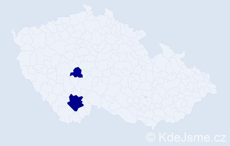 Příjmení: 'Cibulářová', počet výskytů 6 v celé ČR
