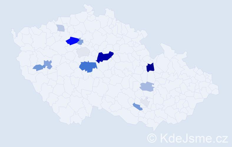Příjmení: 'Černušáková', počet výskytů 34 v celé ČR