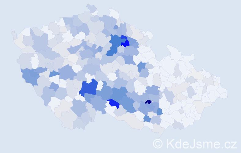 Příjmení: 'Kazda', počet výskytů 1070 v celé ČR