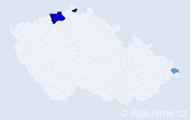 Příjmení: 'Goltschová', počet výskytů 11 v celé ČR