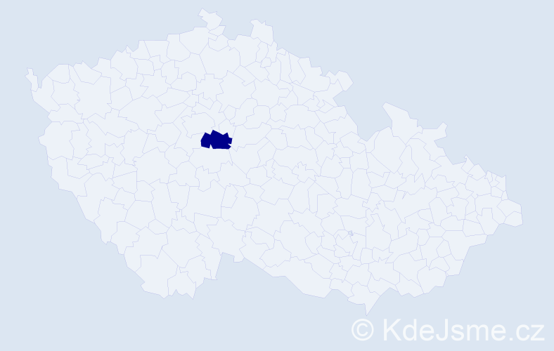 Příjmení: 'Kudaková', počet výskytů 5 v celé ČR