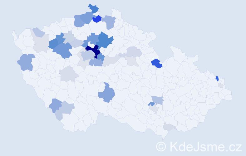 Příjmení: 'Honzátková', počet výskytů 140 v celé ČR