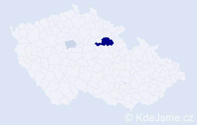 Příjmení: 'Hinduliaková', počet výskytů 3 v celé ČR